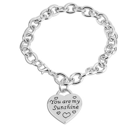 simple love bracelet you are my sun shine English lettering bracelet nihaojewelry wholesale NHMO215235's discount tags