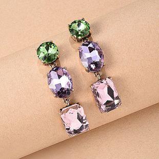 colorful diamond earrings nihaojewelry wholesale fashion glass diamond color long earrings women NHMD215246's discount tags
