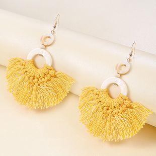 Bohemian tassel earrings women beach ethnic style tassel earrings creative hand-woven rope knot retro shell earrings nihaojewelry wholesale NHMD215247's discount tags