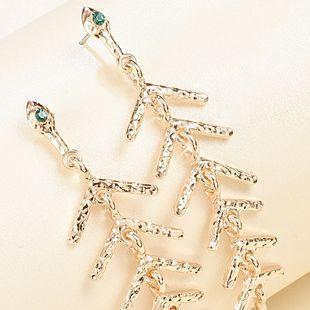 fashion alloy diamond geometric earrings fish bone marine series earrings girls nihaojewelry wholesale NHMD215248's discount tags