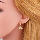 new simple  full diamond cross earrings earrings original personality zircon earrings nihaojewelry wholesale NHAS215251