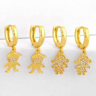 Korea  new fashion  diamond zircon  copper earrings  nihaojewelry wholesale NHAS215257's discount tags