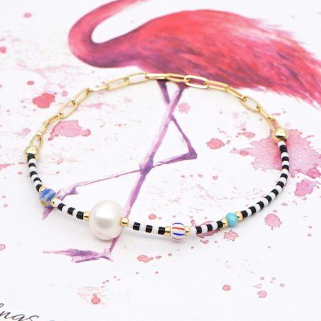 Pulsera Miyuki cuentas de flores esmaltadas simples Perlas perlas naturales de agua dulce cadena grande de oro pulsera de estilo étnico NHGW215290's discount tags