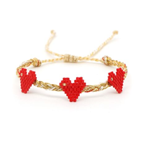 simple couple bracelet female Miyuki imported rice beads love friendship rope hand-woven love jewelry bracelets NHGW215291's discount tags