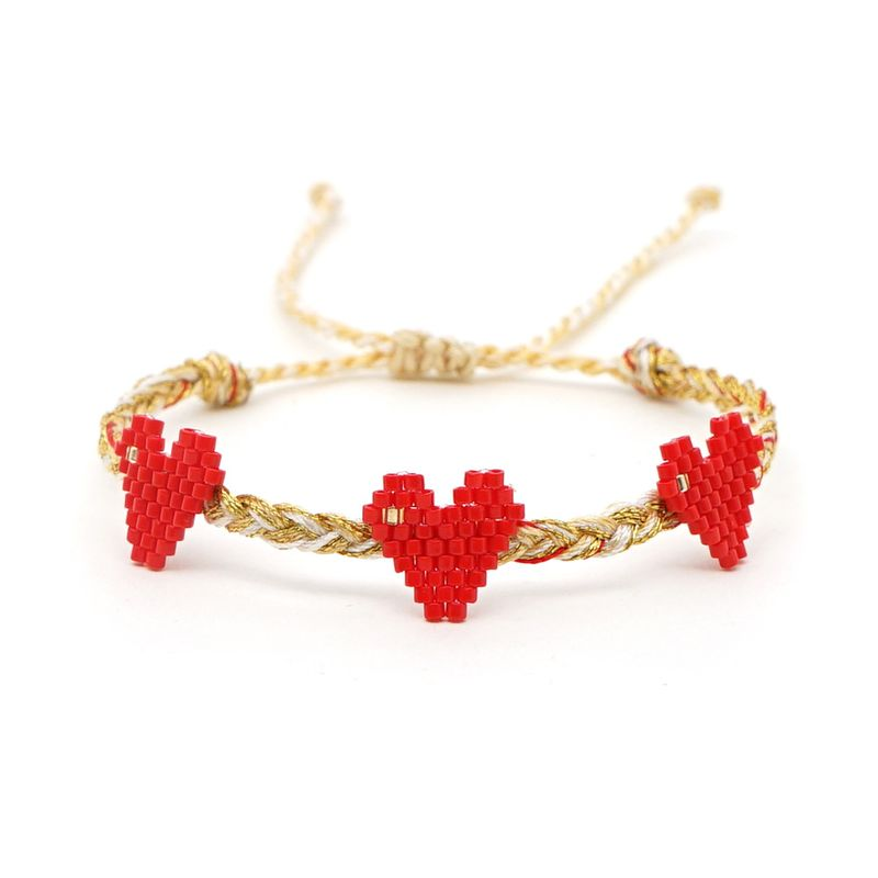simple couple bracelet female Miyuki imported rice beads love friendship rope hand-woven love jewelry bracelets NHGW215291