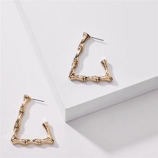 fashion geometric earrings women nihaojewelry wholesale geometric metal bamboo exaggerated simple big earrings NHLU215326's discount tags