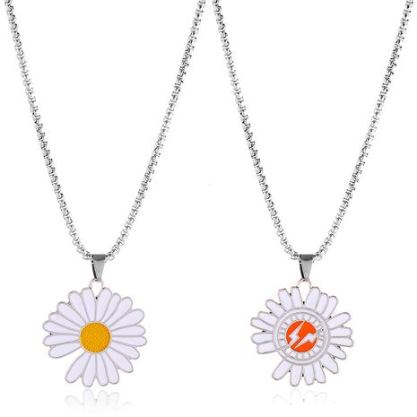 new fashion  daisy lightning necklace sun flower Korean student hip-hop wild simple accessories necklace nihaojewelry wholesale NHPK215362's discount tags