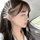 fashion diamond word clip silver hair clip nihaojewelry wholesale  side clip net red crystal crystal diamond bangs clip hairpin set NHNT215370