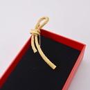 fashion simple retro bow brooch female temperament wild cute sweater brooch coat pin buckle wholesale  NHNT215374