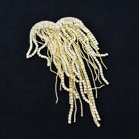 Korean  new  fashion diamond tassel brooch feminine wild rhinestone brooch brooch suit cardigan accessories nihaojewelry wholesale NHNT215390's discount tags