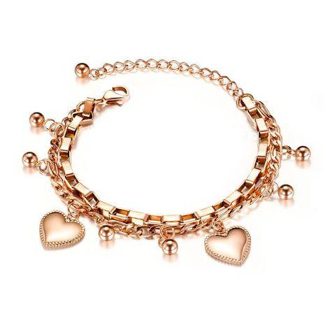 nouvelle mode multicouche bracelet en acier inoxydable perle ronde amour titane acier dames bijoux nihaojewelry en gros NHOP215285's discount tags