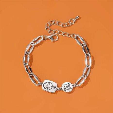 New  simple alloy Little Prince avatar bracelet retro thick chain cartoon bracelet nihaojewelry wholesale NHDP215303's discount tags
