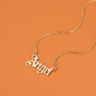 fashion short paragraph Babygirl English alphabet necklace simple literary angel pendant necklace nihaojewelry wholesale NHDP215307's discount tags