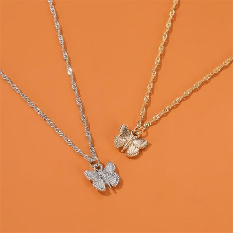 hot selling jewelry small fresh butterfly necklace temperament simple necklace nihaojewelry wholesale NHDP215305's discount tags
