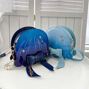 Galaxy Starry Women's Bag nihaojewelry wholesale Cute Girly Bag Pearl Chain Bowknot Jellyfish Bag Shoulder Crossbody Bag NHGA215698's discount tags