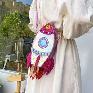 summer new shoulder bag nihaojewelry wholesale fashion creative funny  laser bag spaceship rocket shoulder messenger bag NHGA215699's discount tags