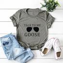 moda de verano suelta letras divertidas algodn cmodo casual de manga corta camiseta nihaojewelry al por mayor NHSN215772