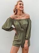 summer fashion sexy short dress offshoulder green slim  dress for women wholesale NHDE215830