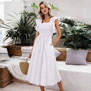 Venta al por mayor de moda para mujer vestido sexy verano dulce encaje blanco dama vestidos nihaojewelry NHDE215846's discount tags