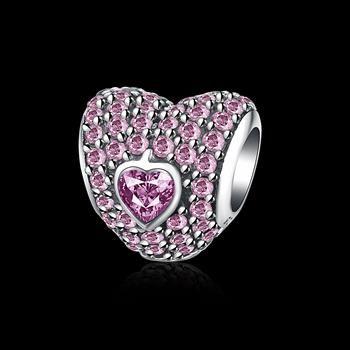 fashion new love shape 925 sterling silver bracelet accessories nihaojewelry wholesale NHKL215944