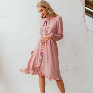 summer fashion light pink ladies dress slim comfotable dress for women nihaojewelry wholesale NHDE215946's discount tags