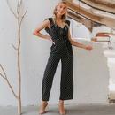 new fashion summer hotsale jumpsuit  white point black slim comfortable  jumpsuit  for women nihaojewelry wholesale  NHDE215950