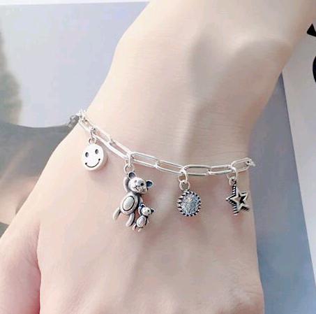 fashion retro simple multielement pendant personality copper bracelet nihaojewelry wholesale NHSC216223