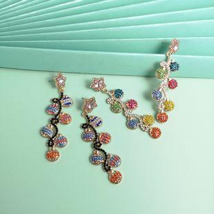 fashion retro baroque palace style earrings  color grape earrings temperament tassel crystal earrings nihaojewelry wholesale NHJJ215984's discount tags