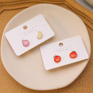 Korean fashion Fresh peach apple earrings cute  simple student earrings nihaojewelry wholesale NHMS215996's discount tags