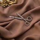 fashion new handmade diamond alloy side clip personality design sense cold wind scissors hair clip personality fun girl hair accessories NHMS216000