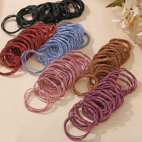 pas cher simple chouchous ensemble en gros mince cheveux corde fille cravate cheveux haute élastique bande de caoutchouc vingt bande cheveux anneau NHPJ216018's discount tags