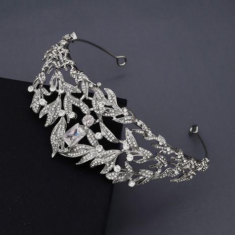 retro crown baroque queen luxury zircon diamond set headdress bride wedding jewelry dress crown nihaojewely wholesale NHHS216043's discount tags