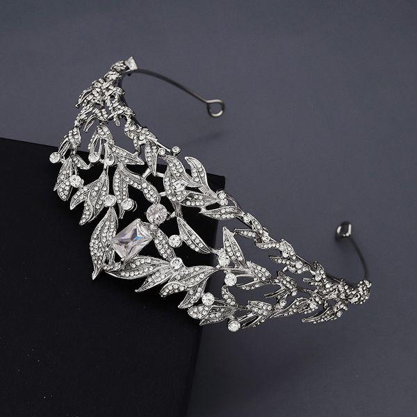 retro crown baroque queen luxury zircon diamond set headdress bride wedding jewelry dress crown nihaojewely wholesale NHHS216043