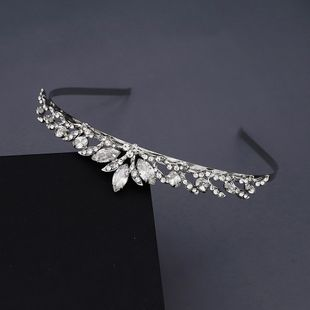 Korea sweet bridal wedding accessories simple and beautiful headband hollow luxury zircon crown birthday party dress headdress nihaojewely wholesale NHHS216045's discount tags