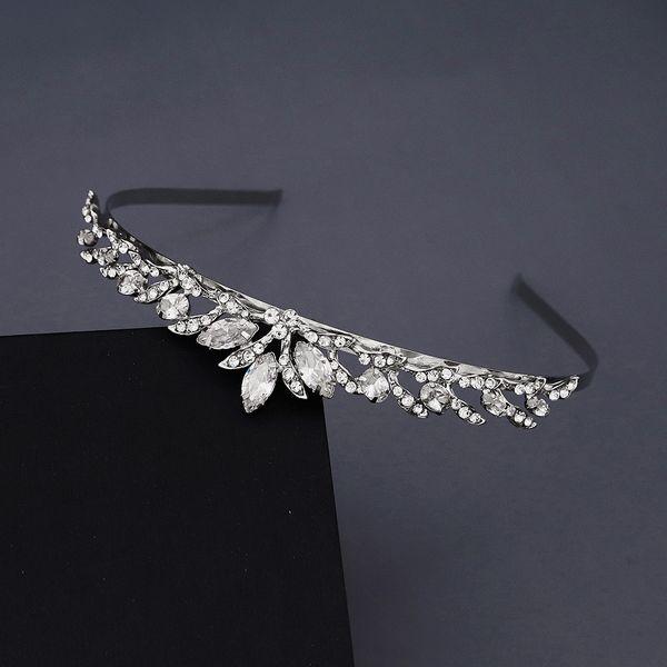 Korea sweet bridal wedding accessories simple and beautiful headband hollow luxury zircon crown birthday party dress headdress nihaojewely wholesale NHHS216045