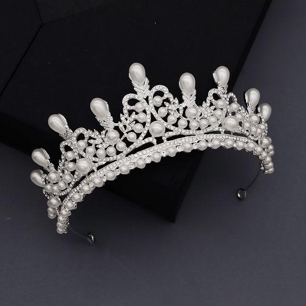 Korean fashion Bridal Wedding Jewelry High-end Diamond Pearl Crown Studio Photo Accessories  Headdress nihaojewely wholesale NHHS216046
