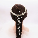 Korea fashion new  bridal hair accessories headwear new hairband retro pearl earrings wedding  hair clip headdress  wholesale NHHS216047