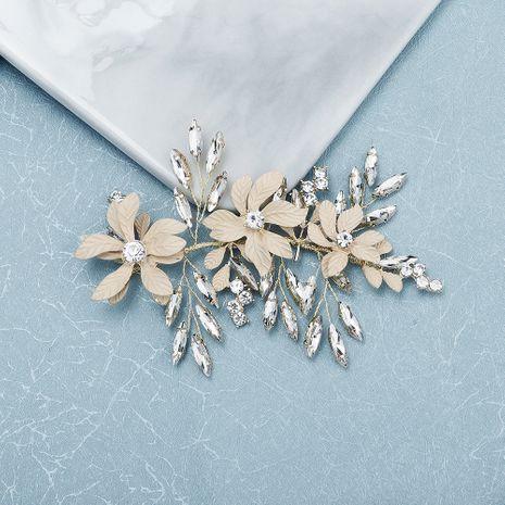 fashion retro  matte texture flower hair band horse eye glass rhinestone handmade headband bridal jewelry wedding hair clip wholesale NHHS216053's discount tags