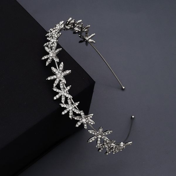 korean fashion simple  wedding jewelry alloy stars rhinestone simple  hair accessories nihaojewely wholesale NHHS216055