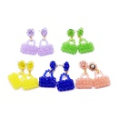 Pure handwoven color beads small bag earrings jewelry color wild personality earrings nihaojewelry wholesale NHOM216057