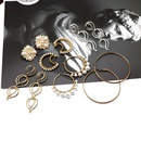 fashion cold style  metal ring large earrings white pearl earrings fashion temperament wild earrings nihaojewelry wholesale NHOM216059
