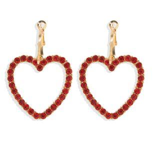 Korean  fashion  cute temperament love earrings  hot selling earrings wholesale NHJQ216063's discount tags