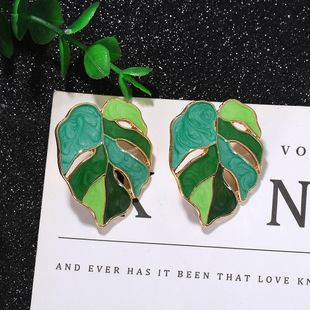 fashion new  temperament creative plant banana leaf earrings  for women wholesale NHJQ216065's discount tags
