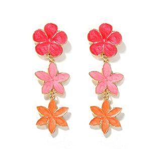 hot-sale Korean summer earrings floral   earrings girl heart small jewelry wholesale  NHJQ216069's discount tags