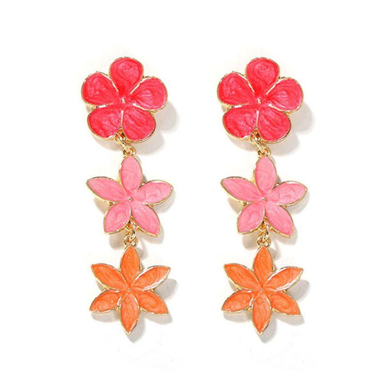 hot-sale Korean summer earrings floral   earrings girl heart small jewelry wholesale  NHJQ216069