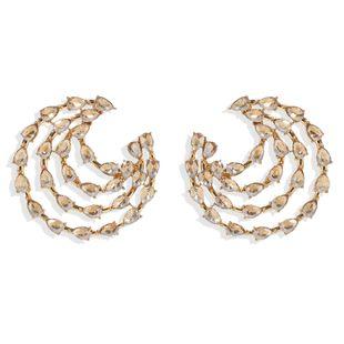 fashion new  retro temperament drop-shaped diamond inlaid earrings wholesale NHJQ216075's discount tags