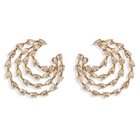 mode nouveau tempérament rétro en forme de goutte boucles d'oreilles incrustées de diamants en gros NHJQ216075's discount tags