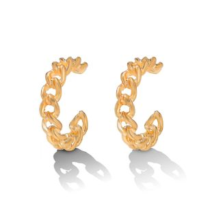 Simple fashion cold style ear bone clip no pierced ears cold wind hollow ear hook high sense  earrings wholesale NHJQ216078's discount tags