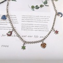 new accessories temperament jewelry fashion clavicle chain star and moon pendant diamond love necklace female jewelry wholesale NHJQ216085