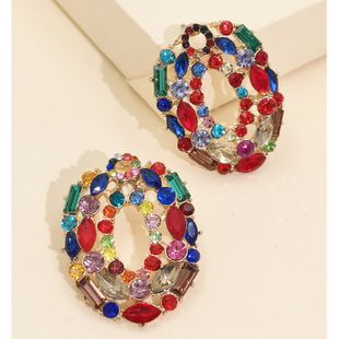 new fashion  exaggerated hollow earrings fashion personality cold temperament earrings nihaojewelry wholesale NHJJ216095's discount tags